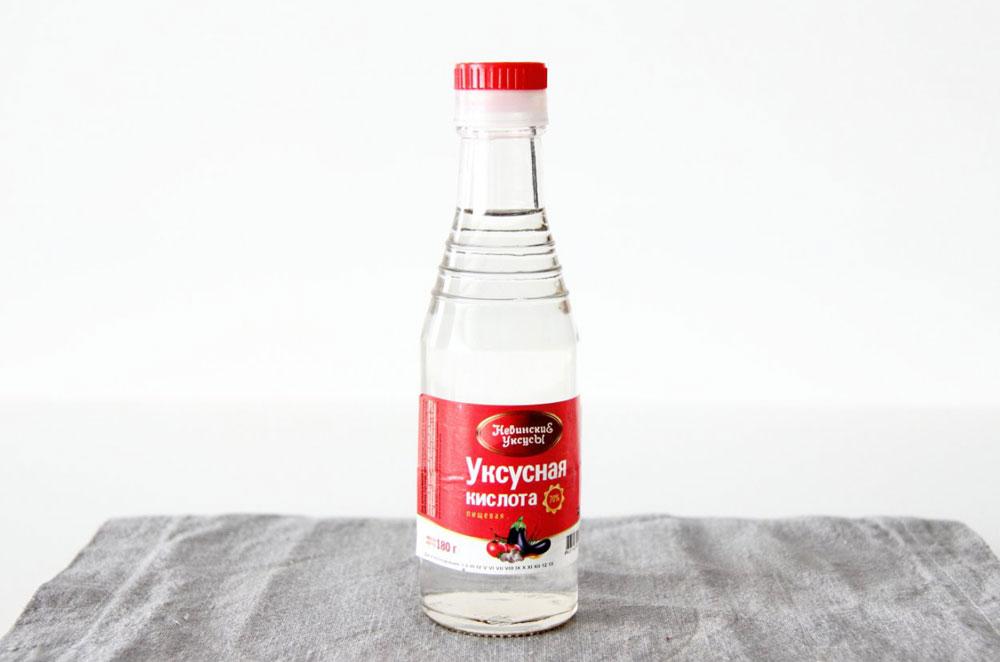 Уксусная кислота для удаления накипи