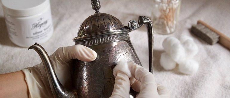 Чистка серебра нашатырным спиртом в домашних условиях